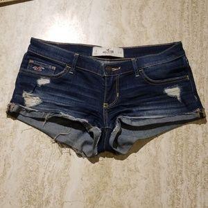 Holister Ultra Lowrise Cuffed Distressed Shorts